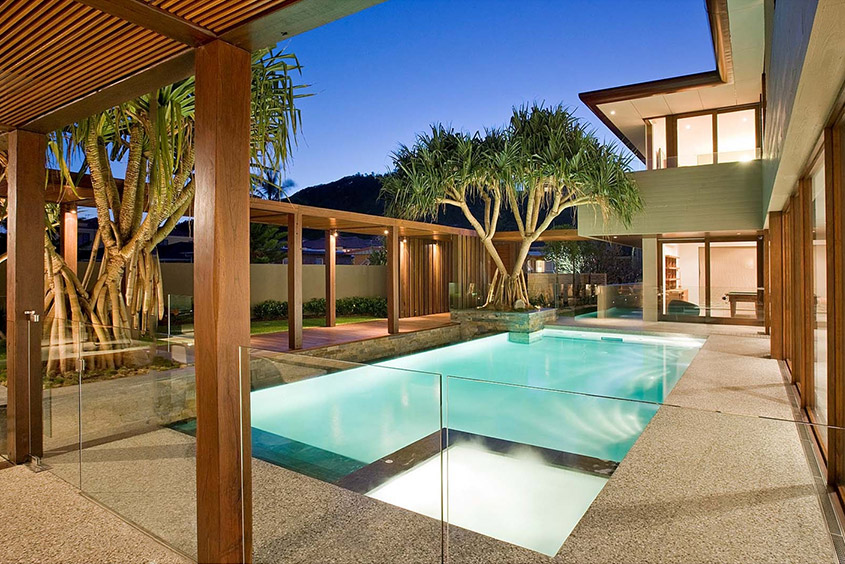 Architectural Residential Landscaping pool