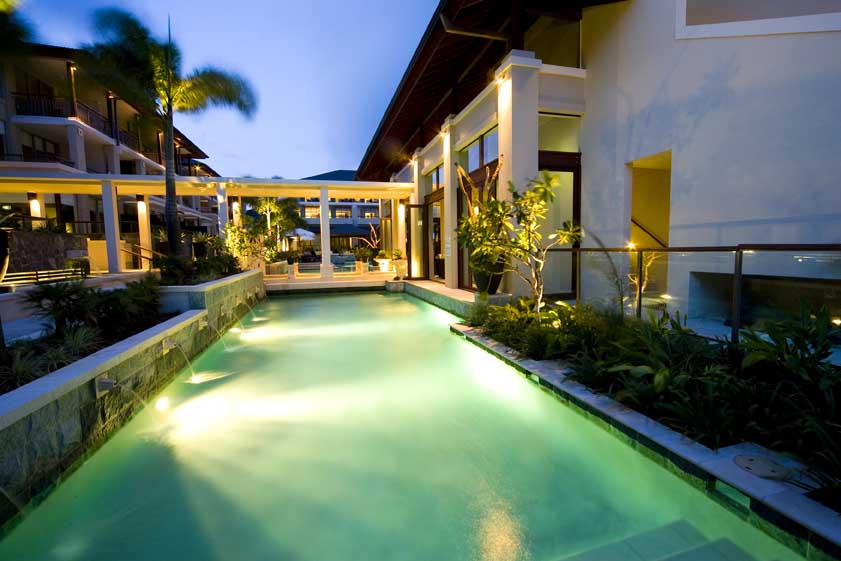 resort pool landscape features