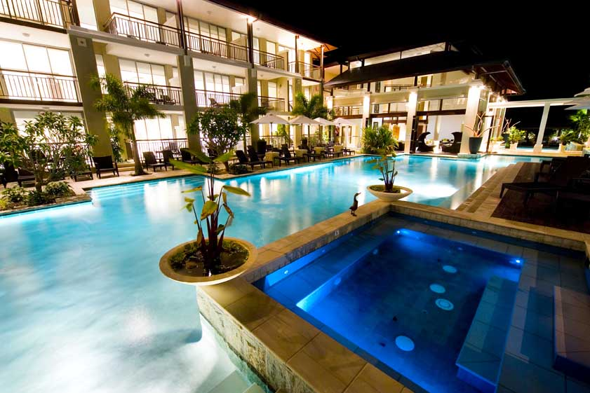 resort pool landscape features