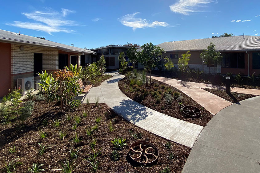 Emerald Aged Care Outdoor area paving