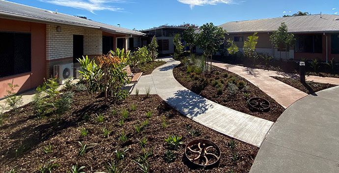 Queensland Aged Care Outdoor area paving