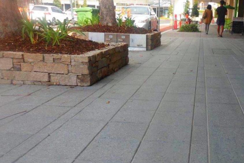Council streetscape project trees