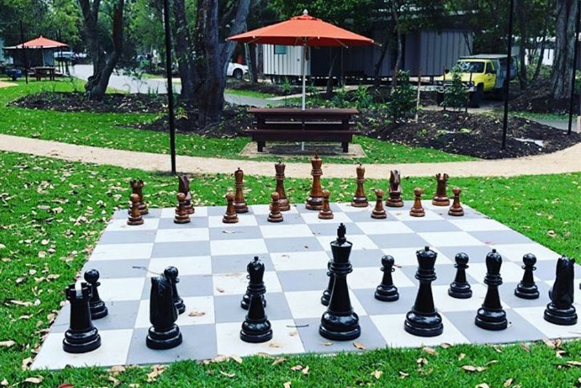 New South Wales resort seat and shade giant chess