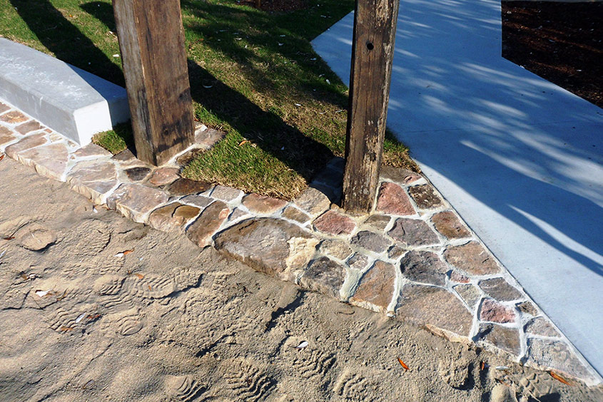 Feature stone paving tiling