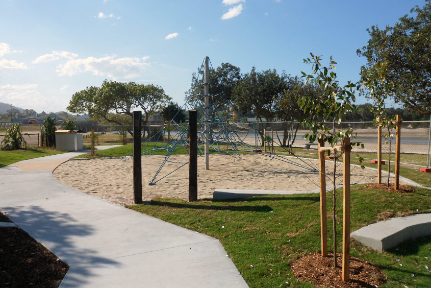 Play area sand pit paving