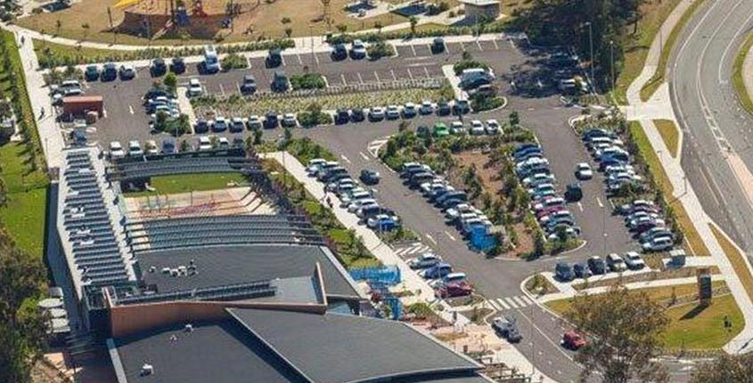 Commercial carpark landscaping