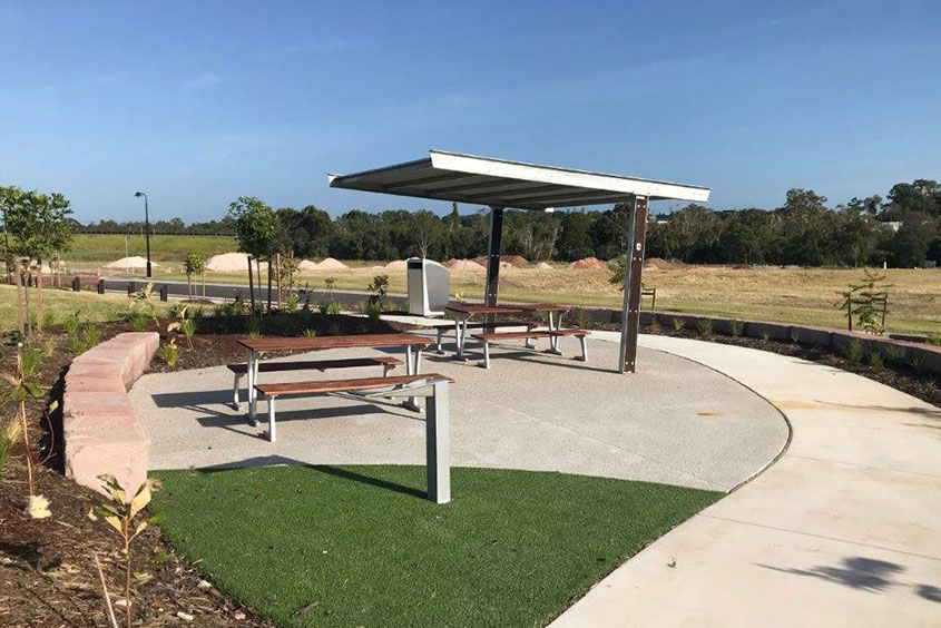 shelter and benches playground queensland