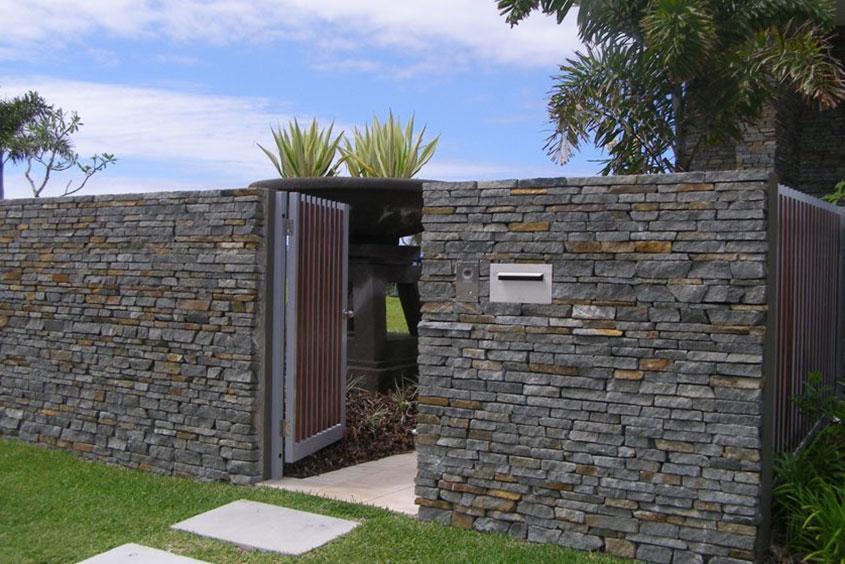Architectural Residential Landscaping blockwork stonemason wall
