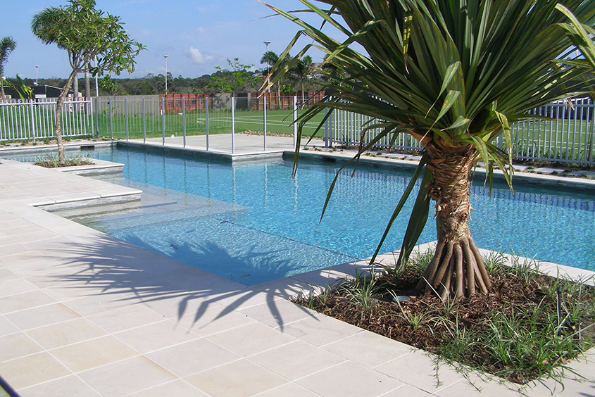 Architectural Residential Landscaping swimming pool pandanus